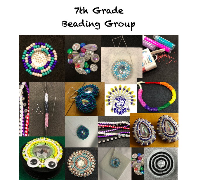 7th grade after-school beading group