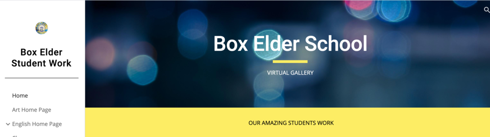 Box Elder Student Work Virtual Display