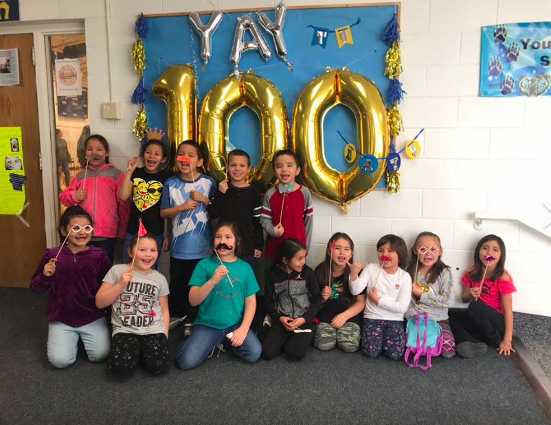 Box Elder SchooL Celebrates 100 Days of the 2018-19 School Year!
