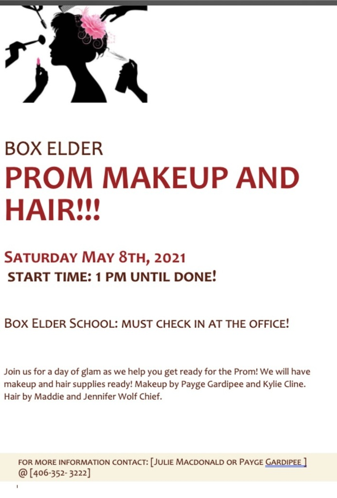 prom hair and makeup poster